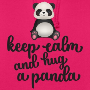 Keep calm and hug a panda - Unisex Hoodie