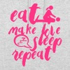 eat make love citation slepp sex repeat - Sweat-shirt à capuche unisexe