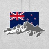 New Zealand - Mountains & Flag - Unisex Hoodie