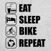 eat sleep bike repeat Bicicleta Ciclismo - Sudadera con capucha unisex