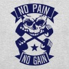 no pain gain quote bodybuilding skull  dumbbell - Unisex Hoodie