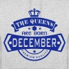 december born queens crown logo - Felpa con cappuccio unisex