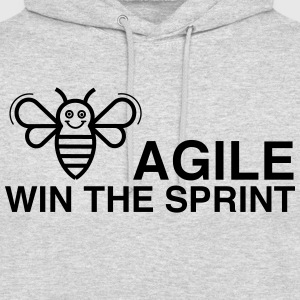 BE AGILE GAGNER LE SPRINT - Sweat-shirt à capuche unisexe