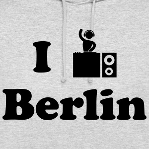 berlin dj - Sweat-shirt à capuche unisexe