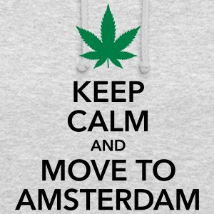 garder calme mouvement à Amsterdam Hollande cannabis Weed - Sweat-shirt à capuche unisexe