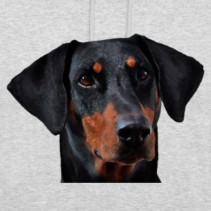 Doberman - Sweat-shirt à capuche unisexe