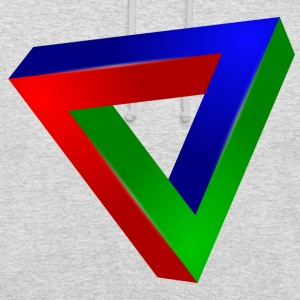 Impossible triangle - Sweat-shirt à capuche unisexe