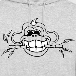 Monkey Bamboo whiteteeth - Sweat-shirt à capuche unisexe