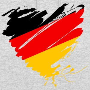 Allemagne Allemagne de football attaquant coeur l'Europe - Sweat-shirt à capuche unisexe