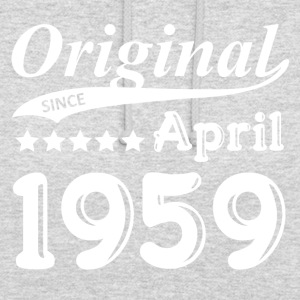 Original Siden april 1959 Gave - Hættetrøje unisex