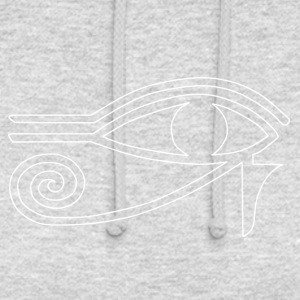 Eye of Ra blanc - Sweat-shirt à capuche unisexe