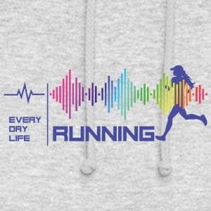 Running Girl - Everday Life - Good Vibes (violet) - Unisex Hoodie
