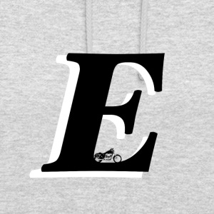 E alphabet - Sweat-shirt à capuche unisexe