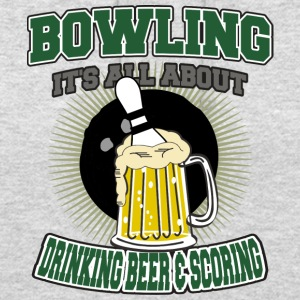 Bowling Drinking Beer And Scoring - Unisex Hoodie