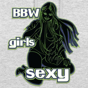 bbw girls sexy black green - Unisex Hoodie