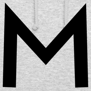 alphabet M - Sweat-shirt à capuche unisexe