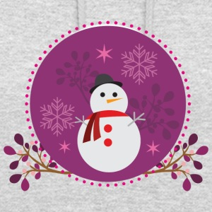 Snowman purple - Sweat-shirt à capuche unisexe