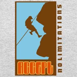Rock Climbing Accept No Limitations - Unisex Hoodie