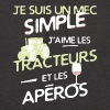 Agriculteur - un mec simple - Sweat-shirt à capuche unisexe