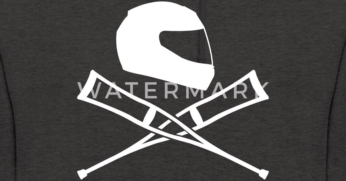 motorradhelm mit kr cken unisex hoodie spreadshirt. Black Bedroom Furniture Sets. Home Design Ideas