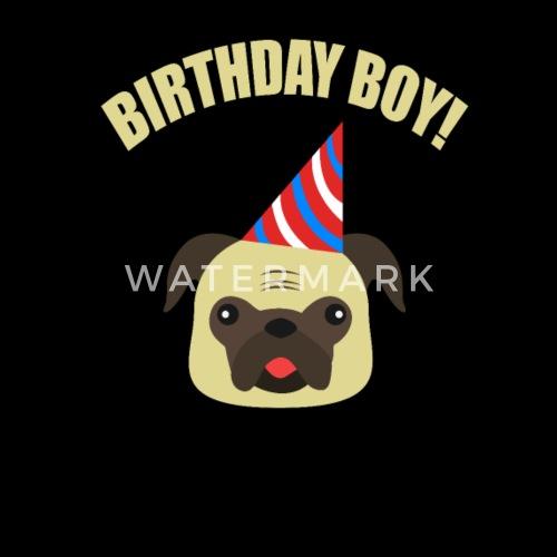 Hund Mops Tiere Geburtstag Kinder Geschenk Jungs Kissenhulle