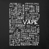 Vape T-shirt Words White - Sofa pillow cover 44 x 44 cm