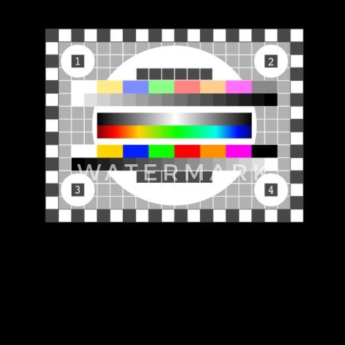 Testbild Tv Senden Fernsehen Früher Retro Farben Kissenhülle
