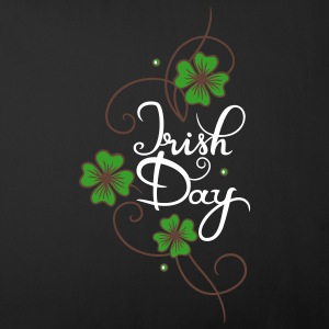 St Patricks Day. Irish Day font with Shamrock.