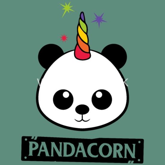 Pandacorn Panda Licorne Kawaii Funny Rainbow Housse De Coussin Spreadshirt