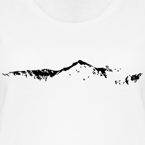 Swiss Mountain Skyline - Frauen Bio Tank Top