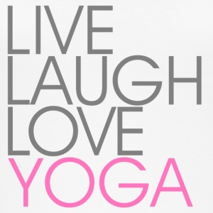 Live Laugh Love YOGA wit / roze - Vrouwen bio tank top