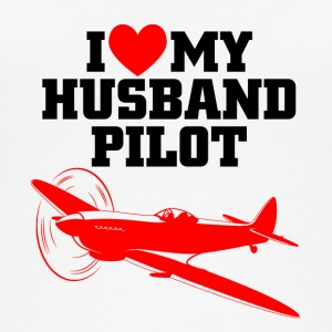 I love my husband pilot - Frauen Bio Tank Top von Stanley & Stella