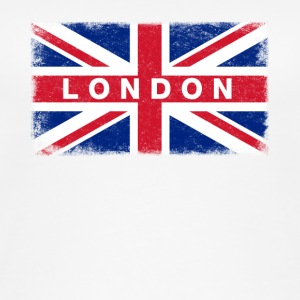 London Shirt Vintage United Kingdom Flag T-Shirt - Women's Organic Tank Top