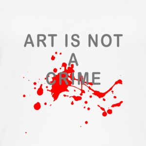 Art is not a crime (blood) - Women's Organic Tank Top by Stanley & Stella