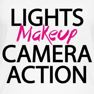 Licht camera actie make-up - Vrouwen bio tank top