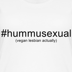 Hummusexual vegan lesbian (?) custom design t-shir - Women's Organic Tank Top by Stanley & Stella