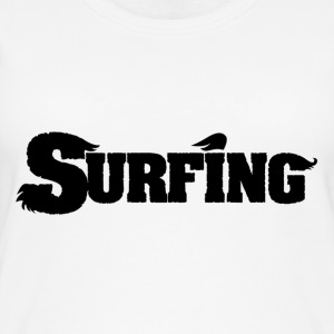 Surfing surf font font - Women's Organic Tank Top by Stanley & Stella