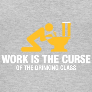 Work Is The Curse Of The Drinking Class - Women's Organic Tank Top by Stanley & Stella