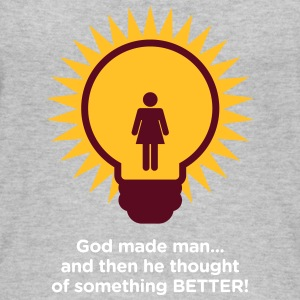 God Created Adam & Eve.And Then Something Better! - Women's Organic Tank Top