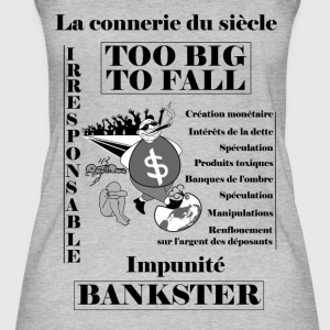 bankster irresponsible and unpunished - Women's Organic Tank Top by Stanley & Stella