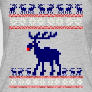 reindeer Christmas pattern Rudolph knitting xmas adv - Women's Organic Tank Top by Stanley & Stella