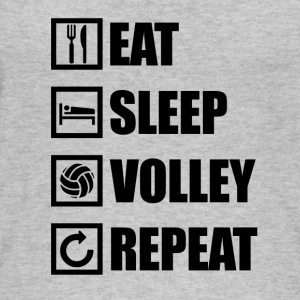 Eat Sleep PALLAVOLO REPEAT - Top ecologico da donna di Stanley & Stella