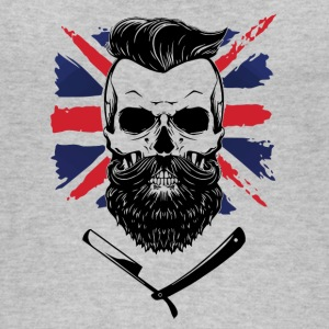 union jack con la barba - Top da donna ecologico