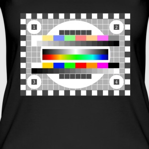 Testbild kleur patroon retro stylish TV running - Vrouwen bio tank top