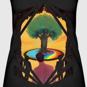 Traveller at the Tree of Creativity - Women's Organic Tank Top