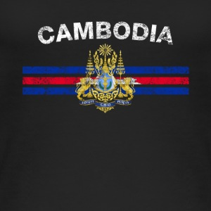 Cambodian Flag Shirt - Cambodian Emblem & Cambodia - Women's Organic Tank Top by Stanley & Stella