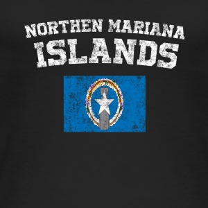 Northern Mariana Islands State Flag Distressed Wine - Women's Organic Tank Top by Stanley & Stella
