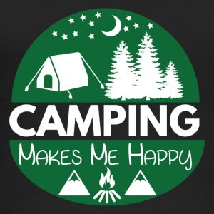 Camping Makes Me Happy - Frauen Bio Tank Top