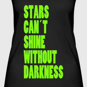 STARS CAN'T SHINE WITHOUT DARKNESS - NEON GREEN - Women's Organic Tank Top by Stanley & Stella