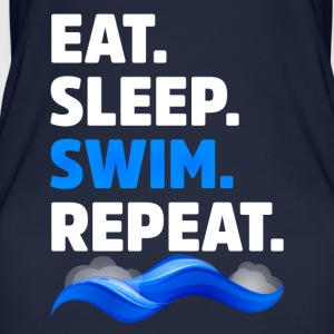 Eat Sleep Swim Repeat Funny Swimmer - Women's Organic Tank Top by Stanley & Stella